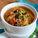 Southwestern Chicken and Rice Soup