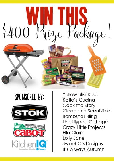 Amazing BIG GAME prize pack -- #STOKgrill, #Cabot Cheese, and #KitchenIQ graters! $400 value!