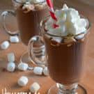 easy homemade hot chocolate using just a few ingredients you have on hand!