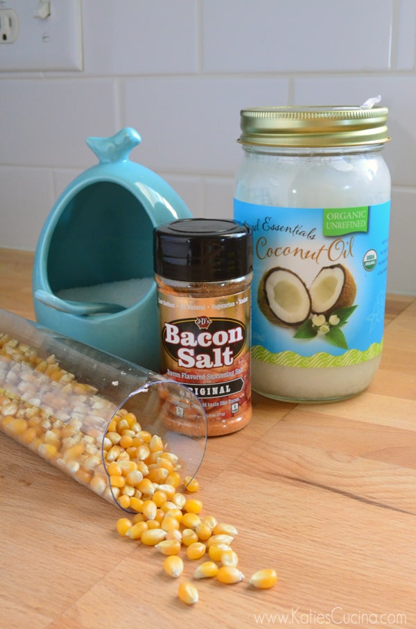 Bacon Popcorn Supplies from KatiesCucina.com