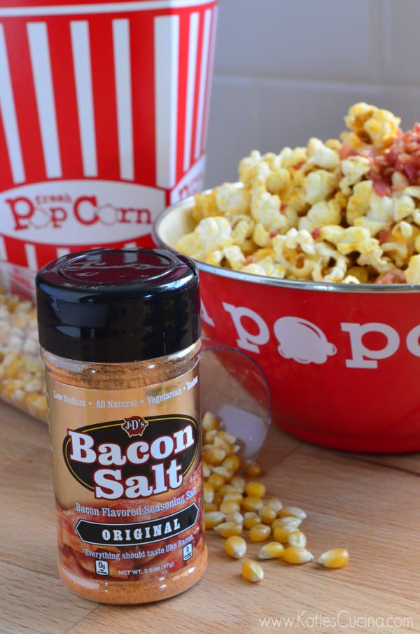 Bacon Salt for the best Bacon Popcorn from KatiesCucina.com