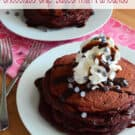 Chocolate - Chocolate Chip Buttermilk Pancakes from KatiesCucina.com