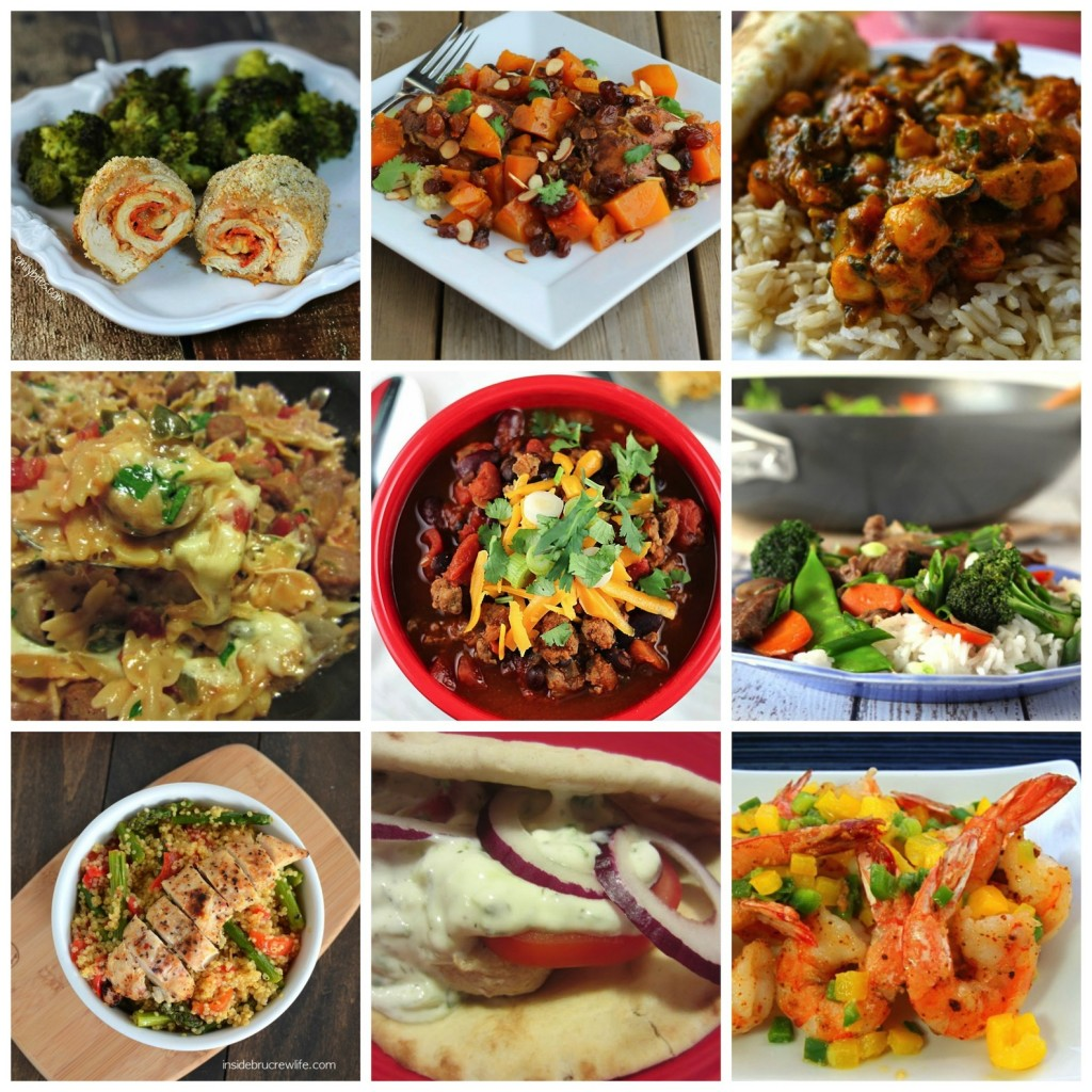 50 easy healthy family meals round up from seasonal and savory for