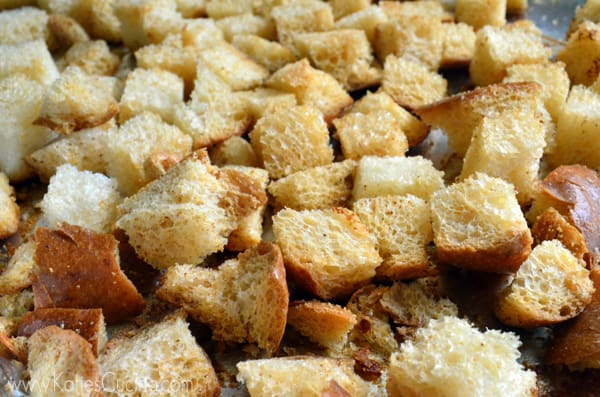 Garlic Bacon Croutons