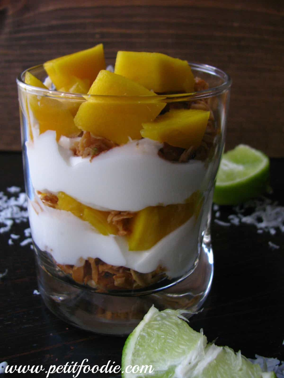 Tropical Parfaits with Coconut Lime Granola