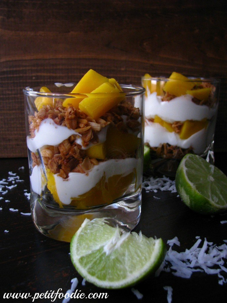 Tropical Parfaits with Coconut Lime Granola guest post from petitfoodie on KatiesCucina.com