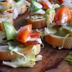 Easy appetizer recipe -- BLT Crostinis