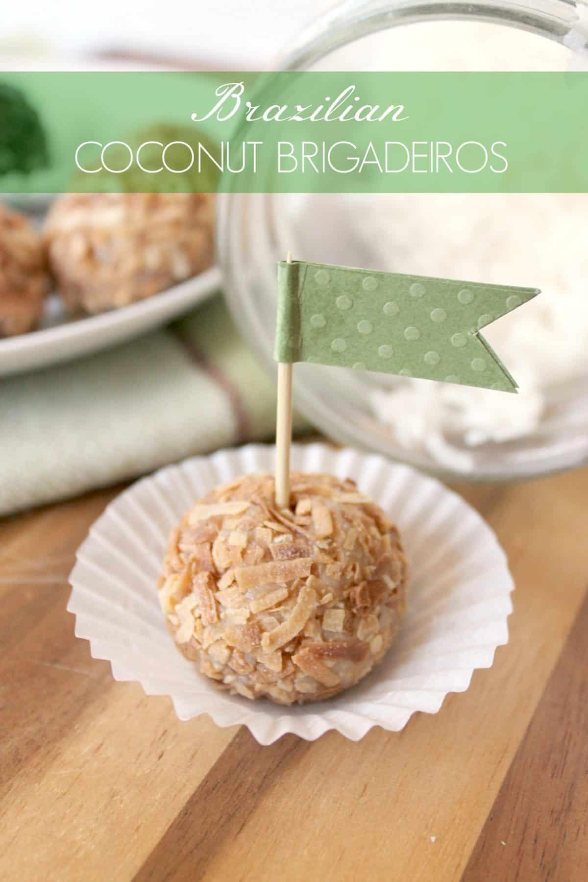 Brazilian Coconut Brigadeiros from The Kitchen Prep on KatiesCucina.com
