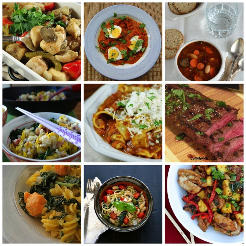 50 Easy, Healthy Family Meals round-up from Seasonal and Savory for KatiesCucina.com