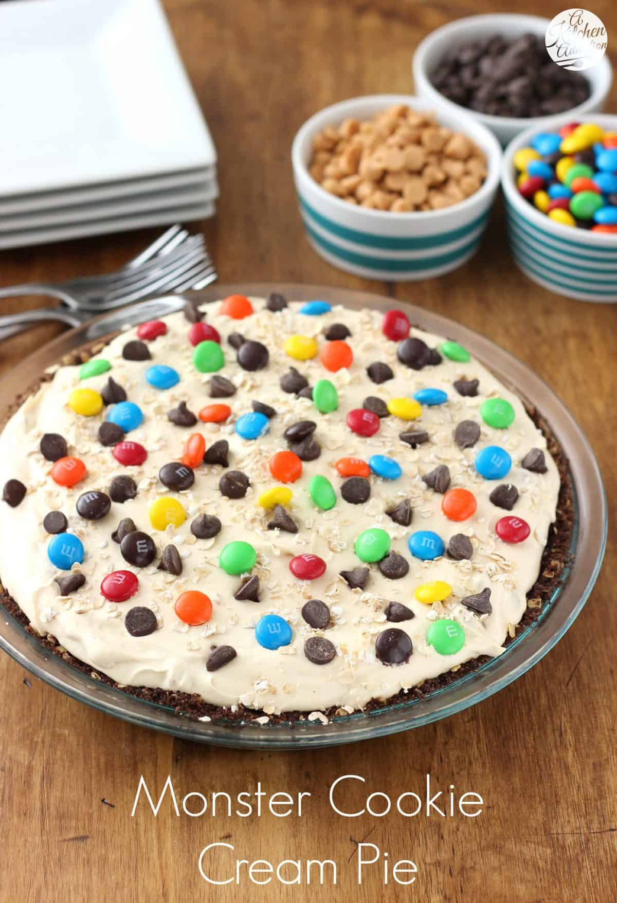 Monster Cookie Cream Pie