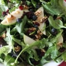 Salad with Pear Vinaigrette from Books n' Cooks on KatiesCucina.com