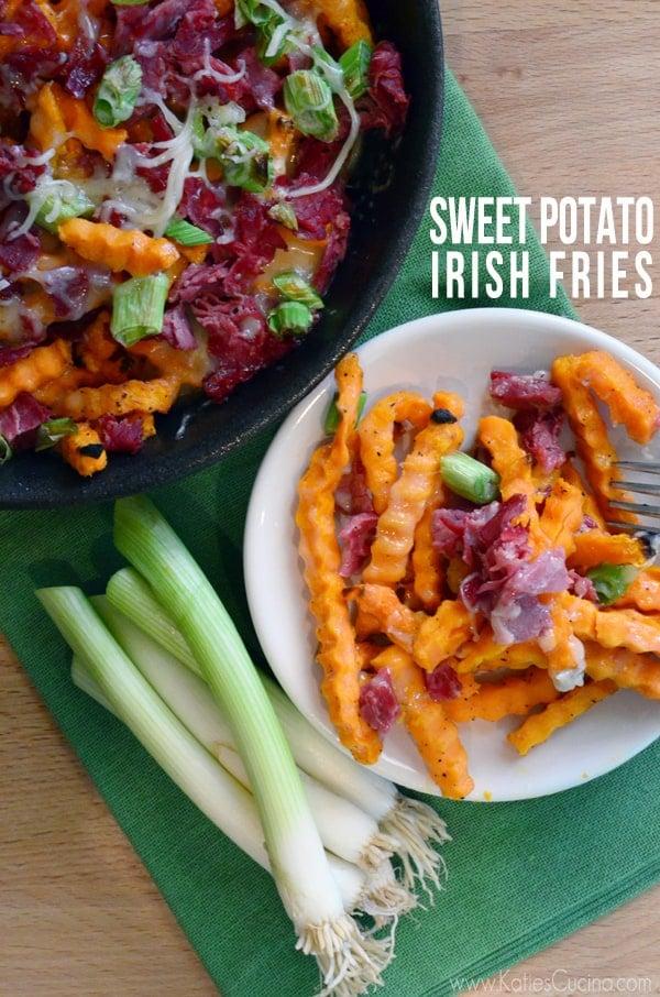 Sweet Potato Irish Fries from KatiesCucina.com #recipe #Irish #fries #StPatricksDay