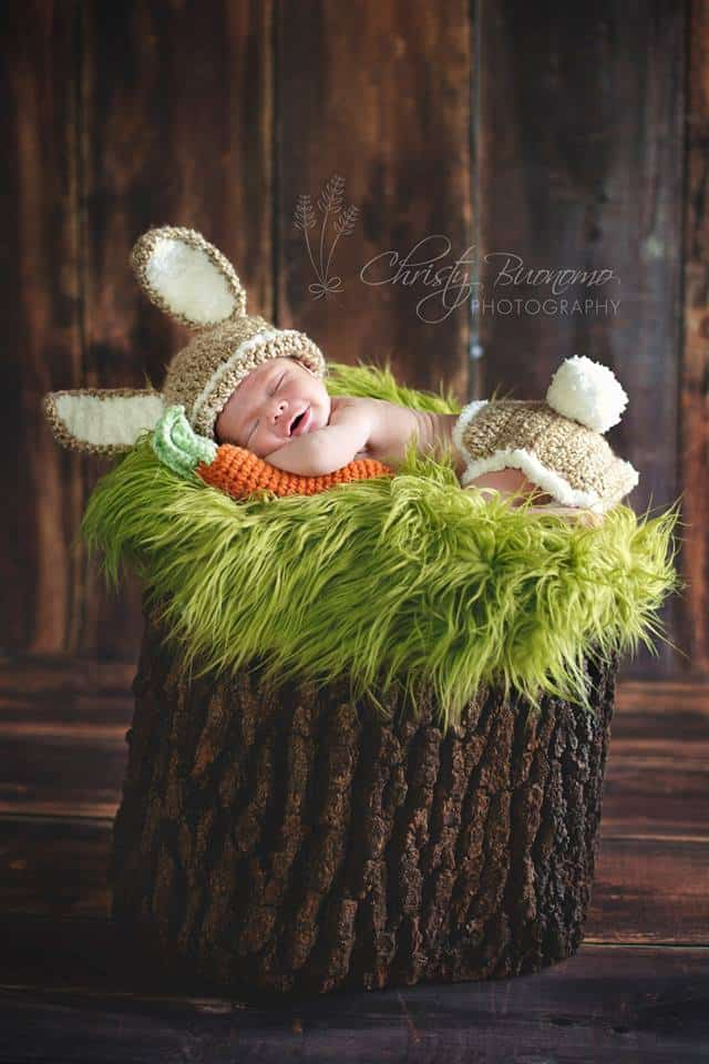 Easter Bunny Newborn Photo -- new baby Ryder on Katie's Cucina!