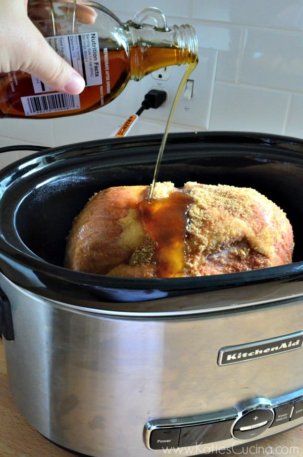 Slow Cooker Maple Glazed Ham