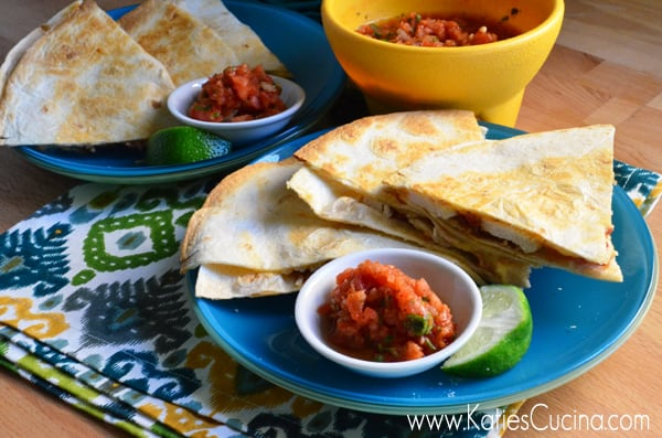 Chipotle Chicken with Bacon Baked Quesadillas