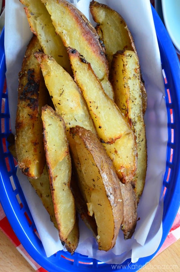 Italian-Style Baked Potato Wedges