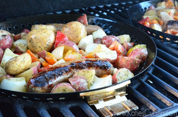 Grilled Italian Sausage & Red Potatoes using @betterwithreds #BetterWithReds #SummerFood #Grilling