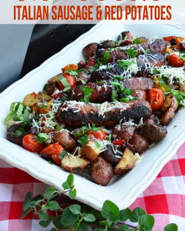 Grilled Italian Sausage & Red Potatoes