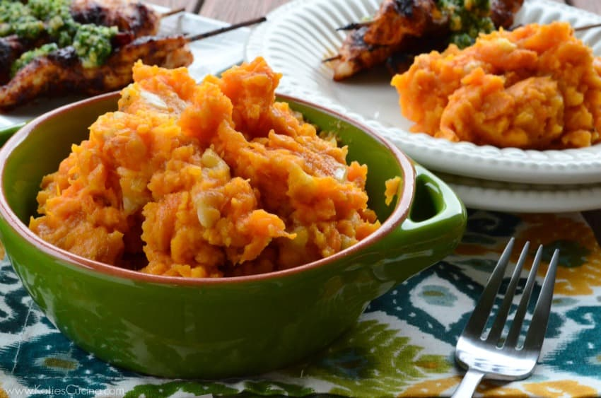 Mashed Sweet Potatoes and Banana
