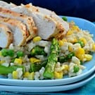 Summer Vegetable Risotto with Grilled Chicken 4