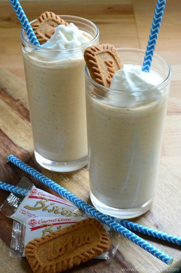 Biscoff Cookie Milkshake #MilkshakeWeek
