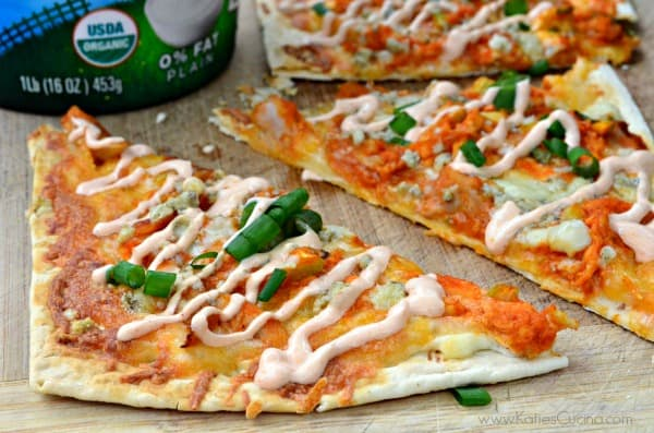 Buffalo Chicken Flatbreads