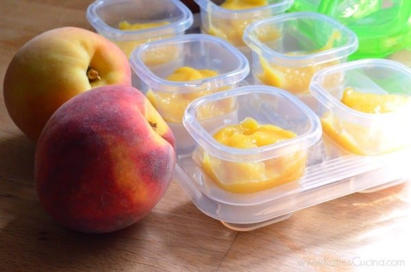 Homemade Peach Puree Baby Food + OXO Tots Giveaway
