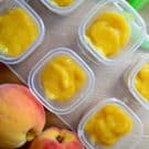 Homemade Peach Puree Baby Food #FirstBites @OXOTots