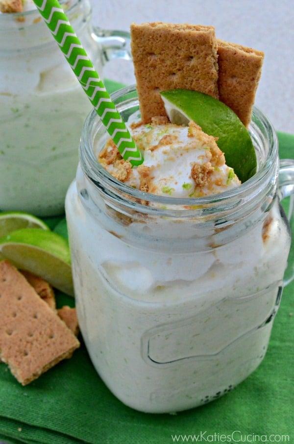 Key Lime Pie Milkshakes from @KatieJasiewicz #MilkshakeWeek