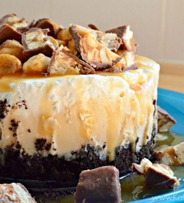 Mini Snickers Ice Cream Cakes