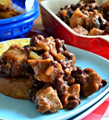 Slow Cooker Barbecue Pork with Black Beans
