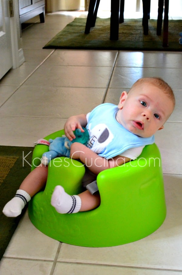 Baby Ryder in his Bumbo Chair