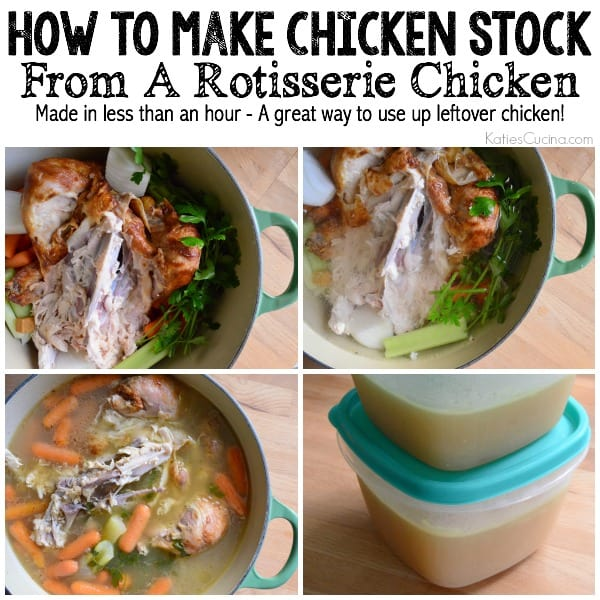 How To Make Chicken Stock From A Rotisserie Chicken In Less Than An Hour!