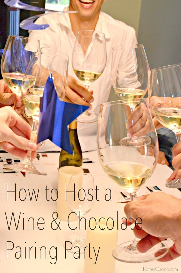 How to Host a Wine & Chocolate Pairing Party #PerfectPairing