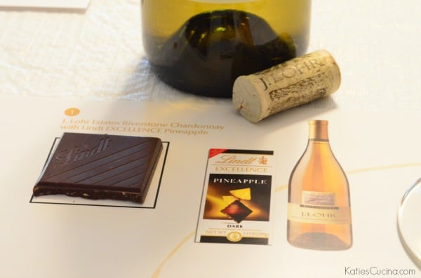 Lindt EXCELLENCE Pineapple paired with J. Lohr Estates Riverstone Chardonnay