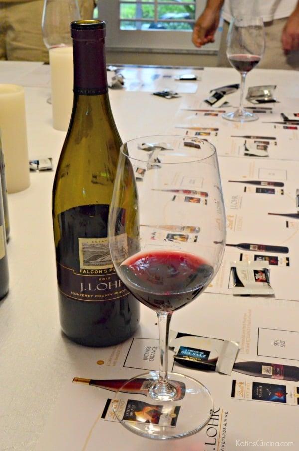 Lindt EXCELLENCE Sea Salt paired with J. Lohr Estates Falcon's Perch Pinot Noir