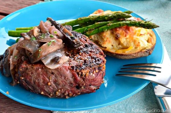 mushrooms steak with red wine mushroom steaks with mustard wine red ...