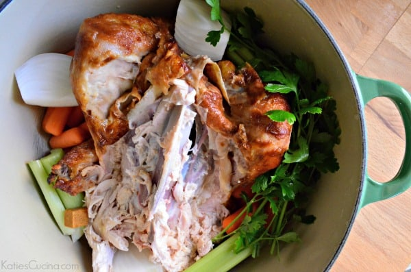 how to make chicken stock from a rotisserie chicken