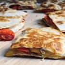 Easy Chicken Fajita Quesadillas