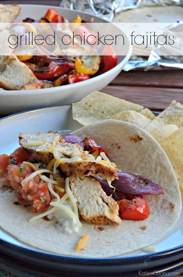 grilled chicken fajitas - easy meal to make in minutes on the grill!