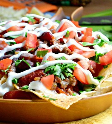 Loaded Chili Cheese Nachos