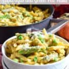 One-Pot Creamy Pumpkin Asparagus and Green Pea Pasta