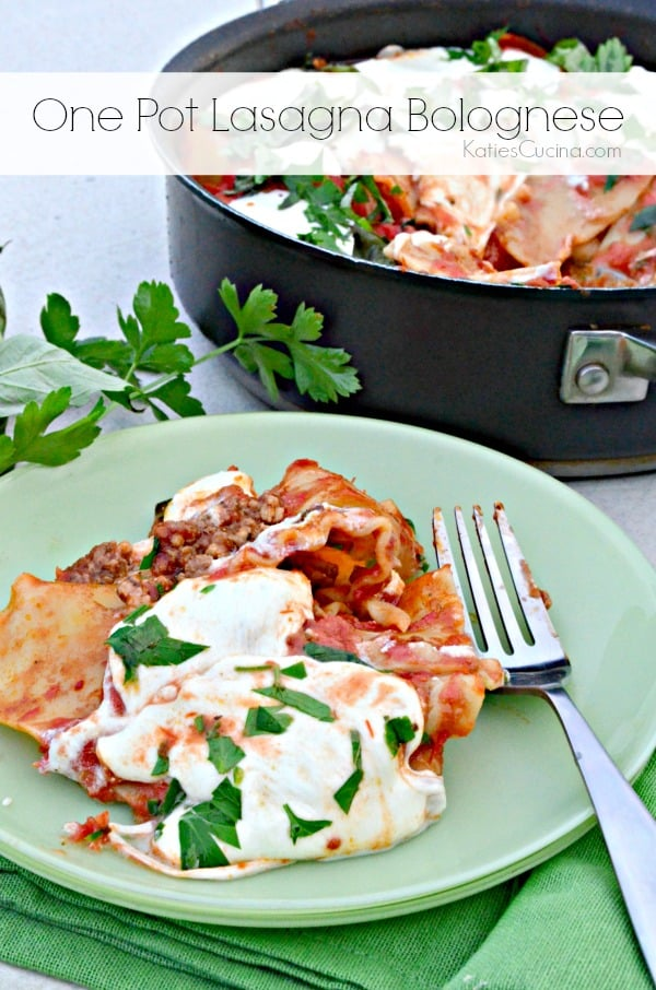One Pot Lasagna Bolognese