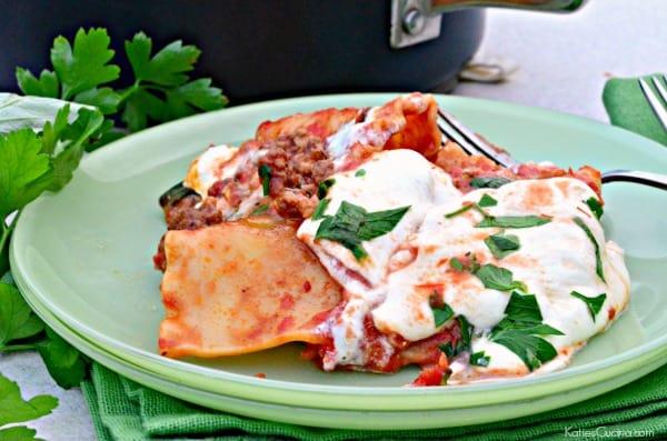 One Pot Lasagna Bolognese