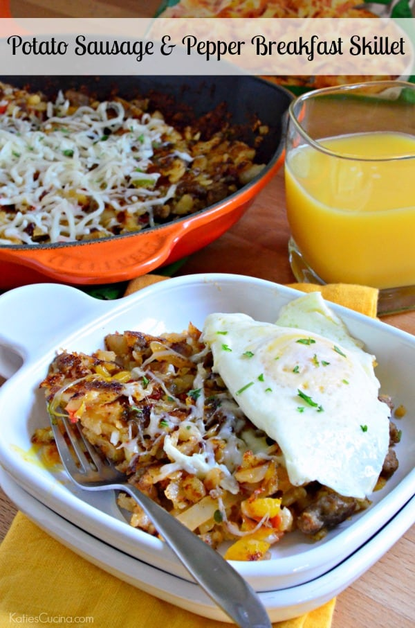 Potato Sausage and Pepper Breakfast Skillet