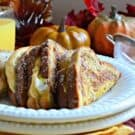 Pumpkin Cream Cheese Stuffed French Toast