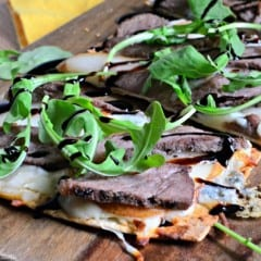 Steak Pear and Gorgonzola Flatbread