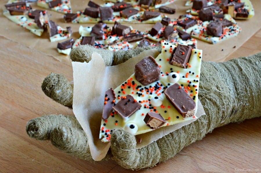 White Chocolate Halloween Candy Bark