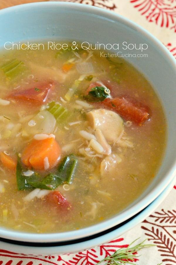 Chicken Rice & Quinoa Soup