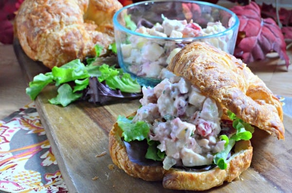 Cranberry Turkey Salad on Croissants